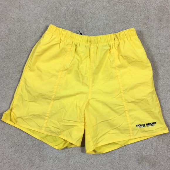 a817746779 ... low cost vtg polo sport swim trunks yellow medium be149 ea563 ...